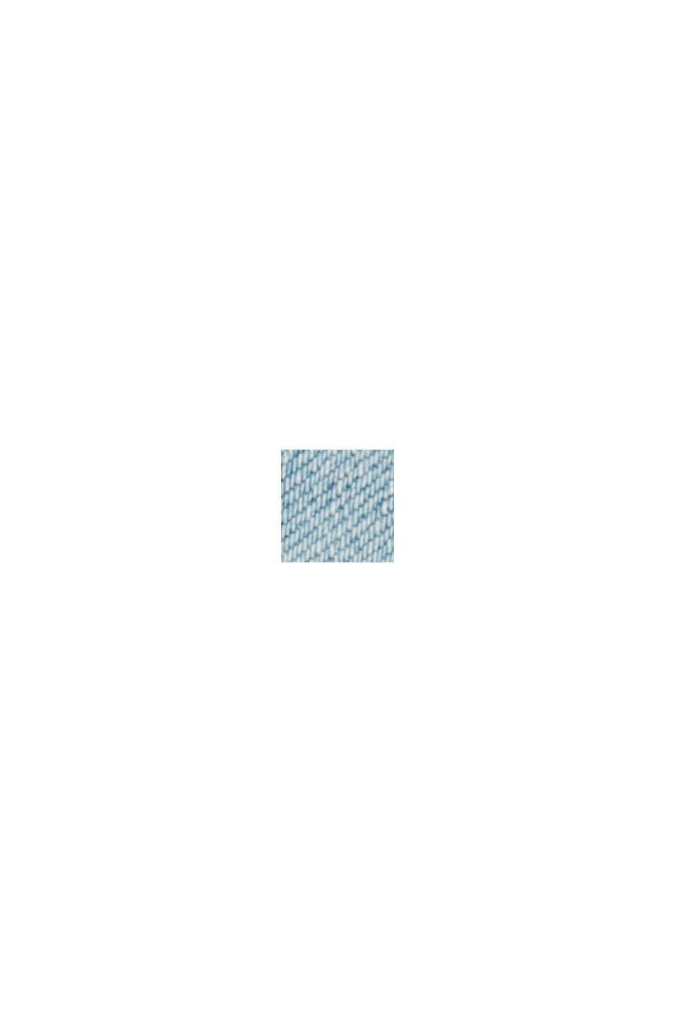 Biologisch katoen/lyocell: smalle denim short, BLUE LIGHT WASHED, swatch