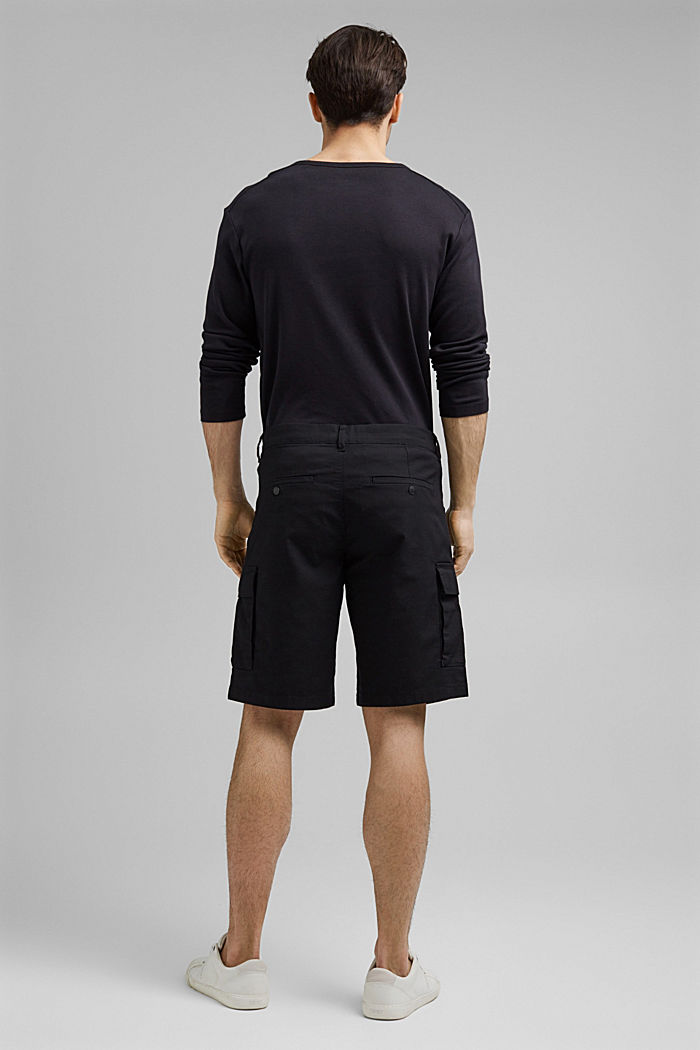 Cargo shorts with COOLMAX®, organic cotton, BLACK, detail image number 3