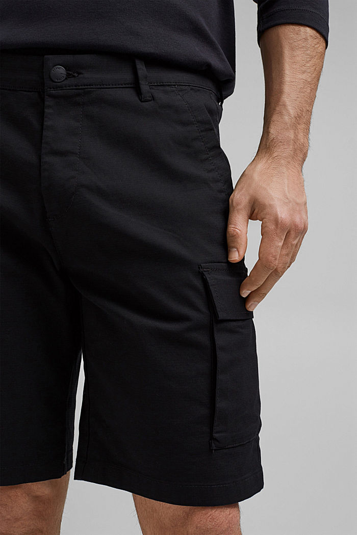 Cargo shorts with COOLMAX®, organic cotton, BLACK, detail image number 2