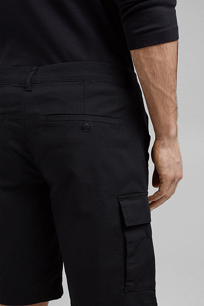 Cargo shorts with COOLMAX®, organic cotton, BLACK, detail image number 5