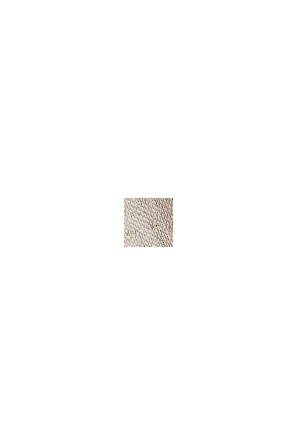 Van een linnenmix: overhemd met korte mouwen en opstaande kraag, LIGHT BEIGE, swatch