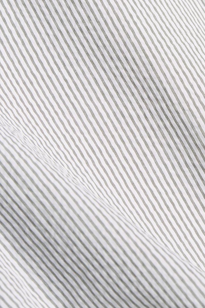 Košile s krátkým rukávem a pomačkaným efektem, bio bavlna, DARK KHAKI, detail image number 4