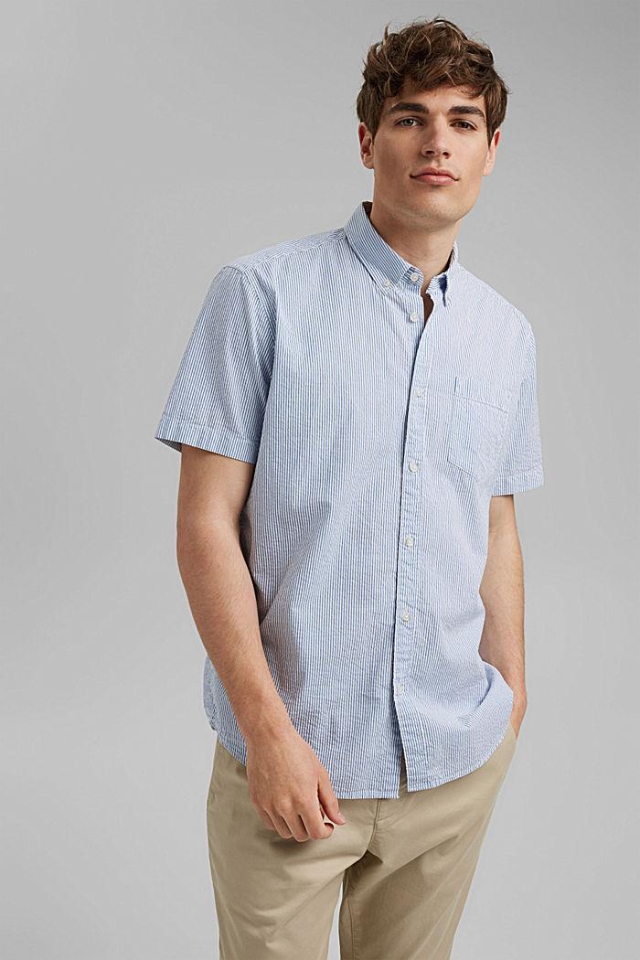 Kurzarm-Hemd mit Knittereffekt, Organic Cotton