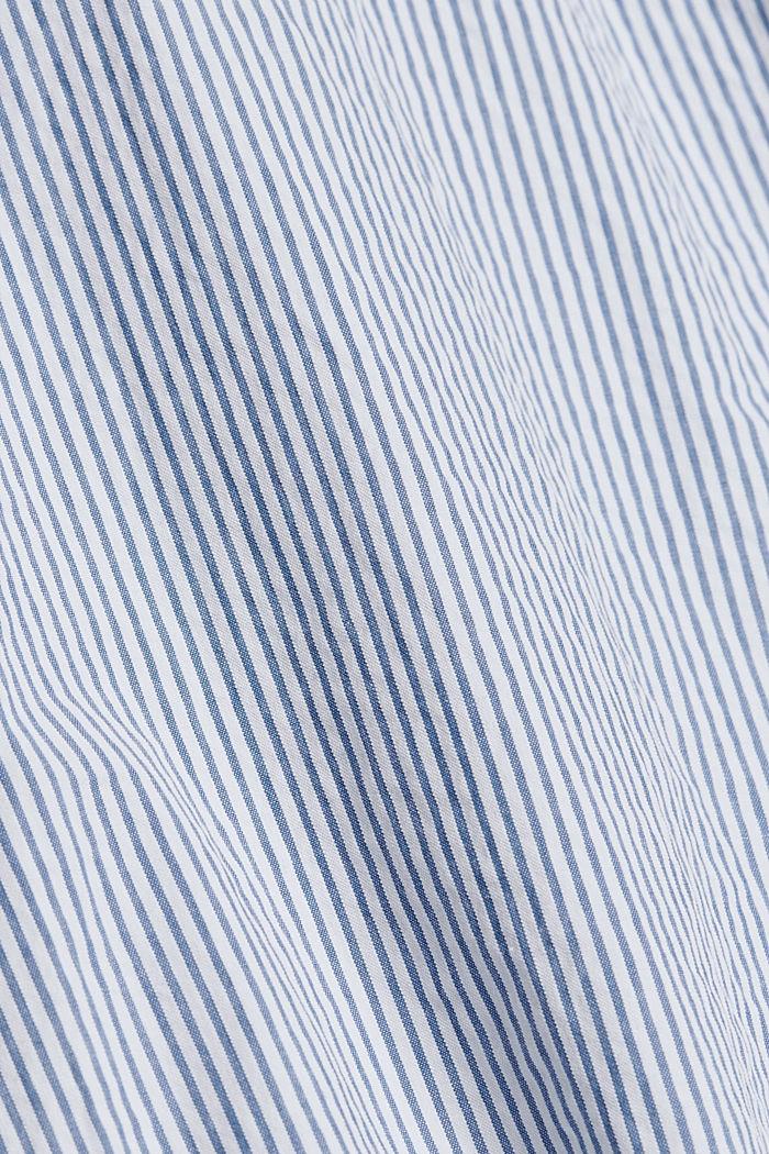 Overhemd met korte mouwen en kreukeffecten, biologisch katoen, BLUE, detail image number 4
