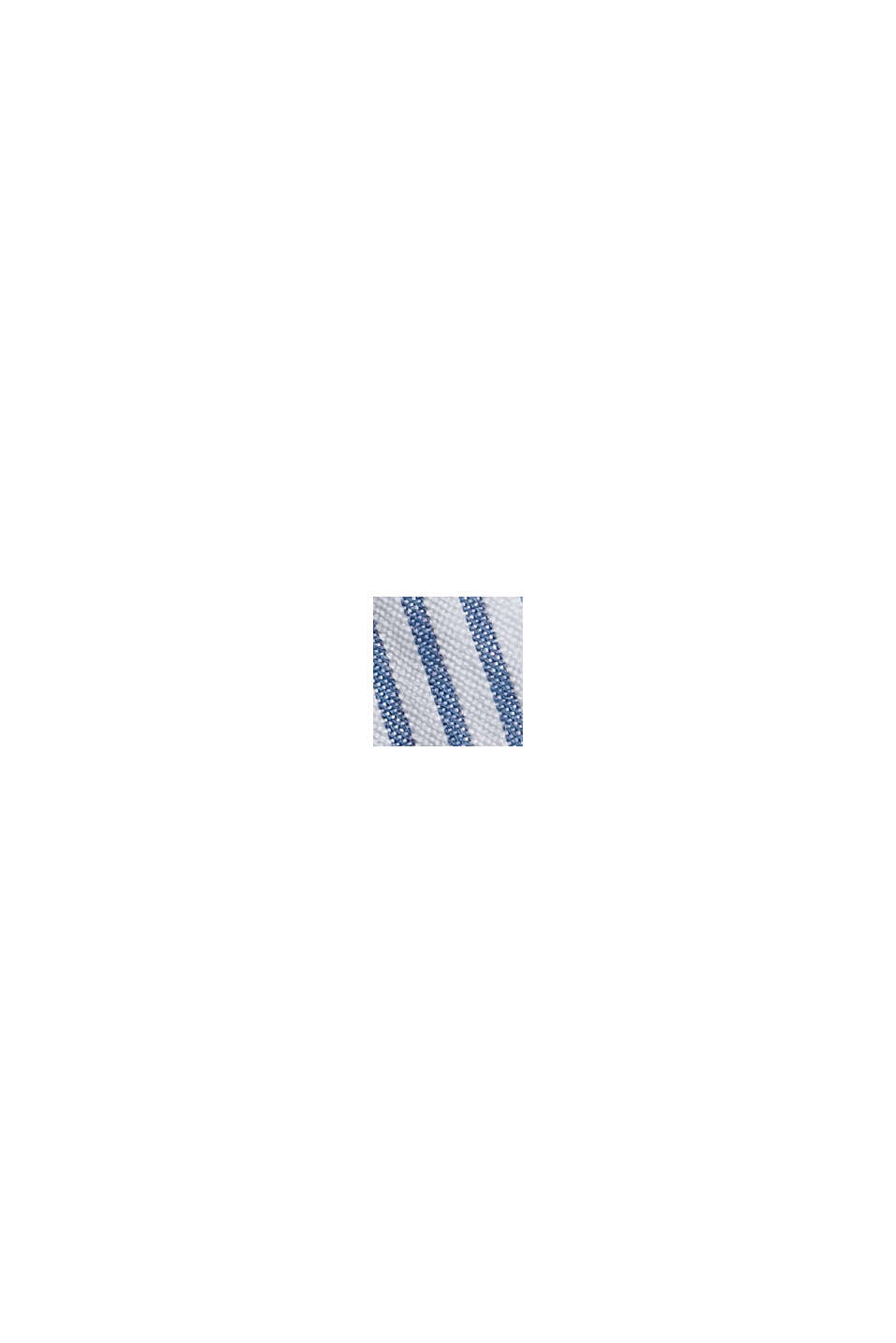 Overhemd met korte mouwen en kreukeffecten, biologisch katoen, BLUE, swatch