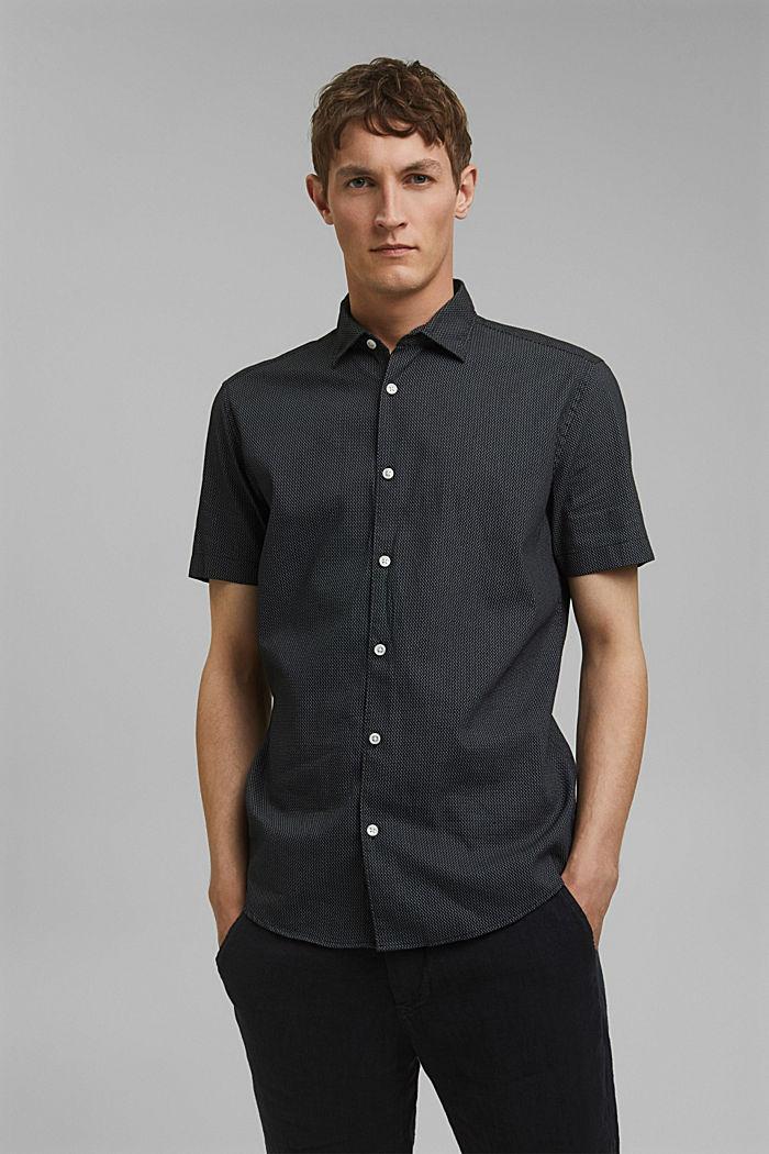 Met linnen/COOLMAX®: overhemd met korte mouwen