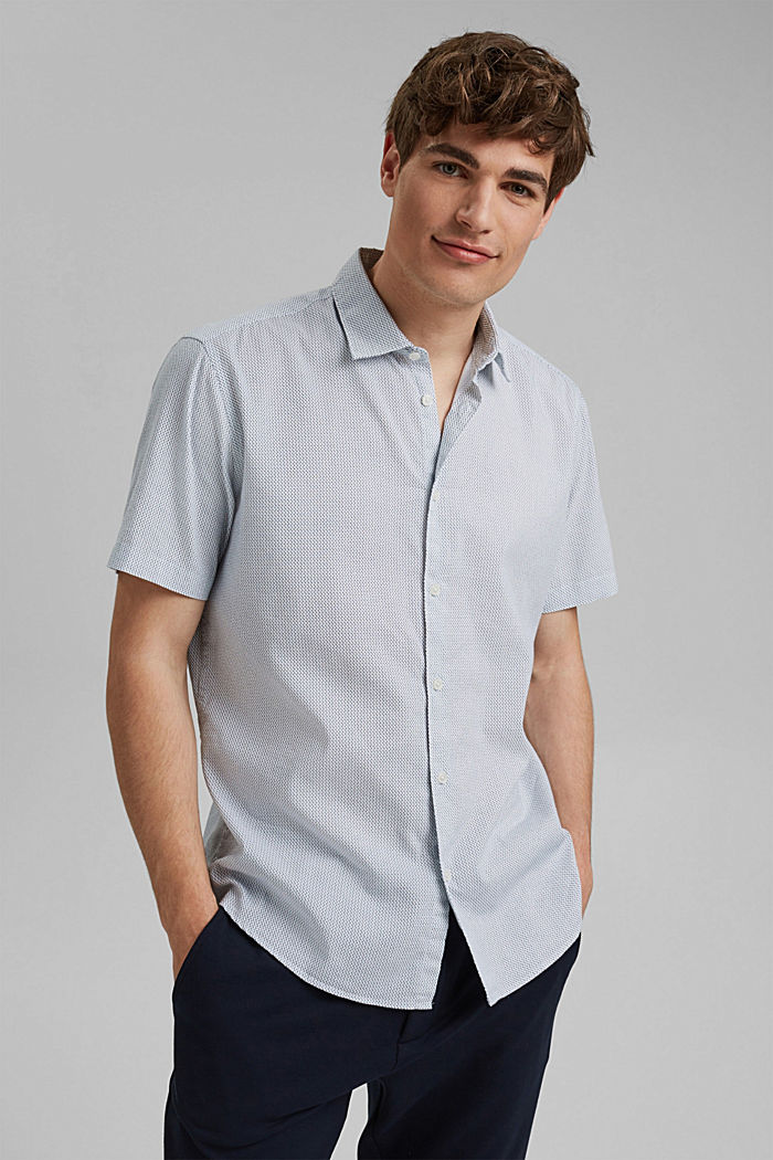 Se lnem/COOLMAX®: košile s krátkým rukávem, WHITE, detail image number 0