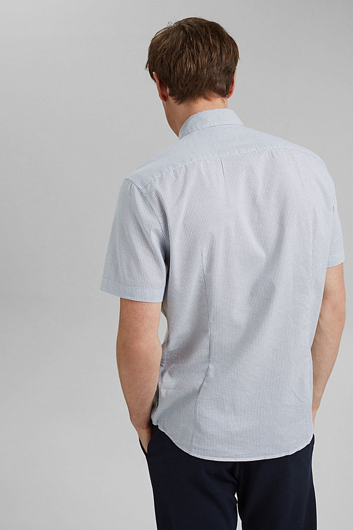 Se lnem/COOLMAX®: košile s krátkým rukávem, WHITE, detail image number 3