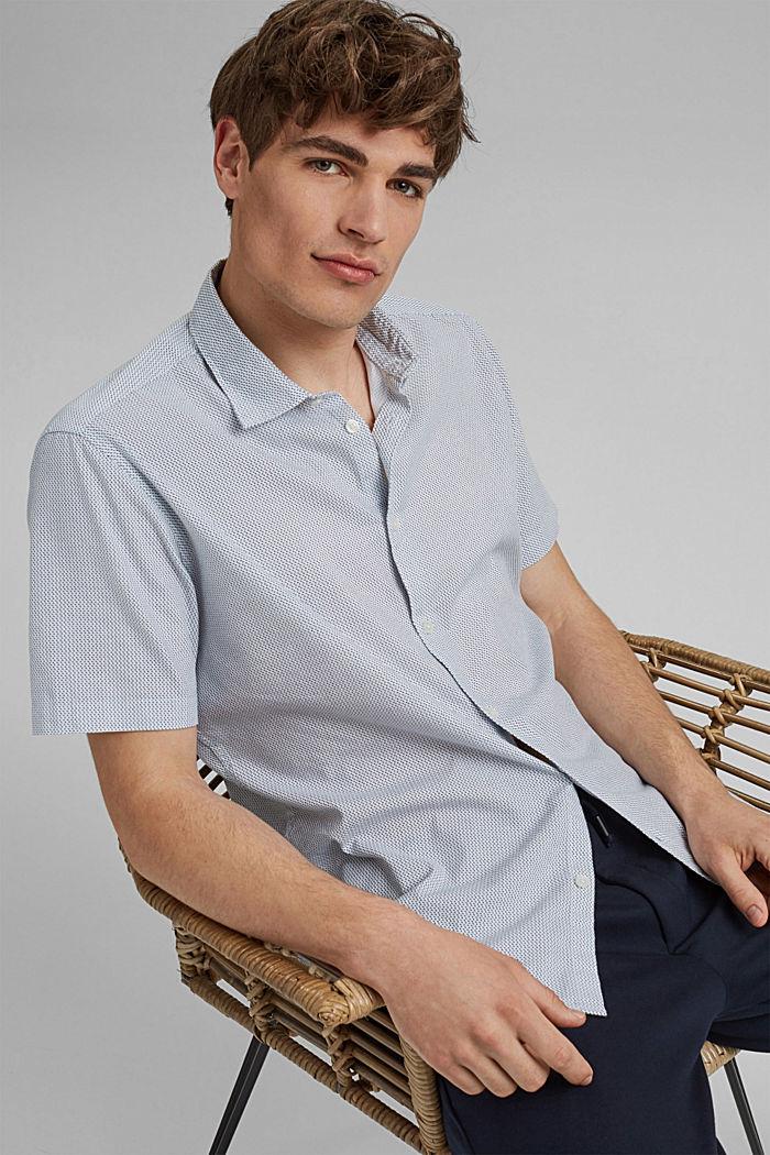 Mit Leinen/COOLMAX®: Kurzarm-Hemd