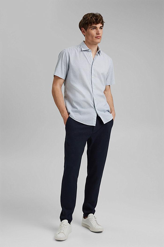 Se lnem/COOLMAX®: košile s krátkým rukávem, WHITE, detail image number 1