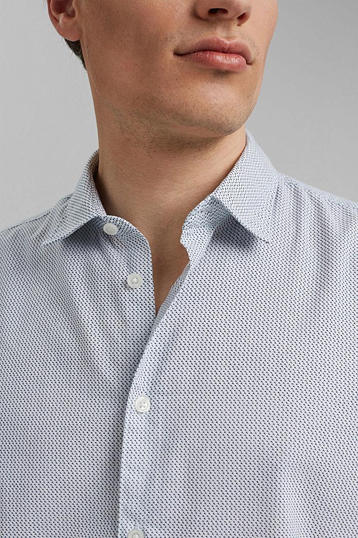 Se lnem/COOLMAX®: košile s krátkým rukávem, WHITE, detail image number 2