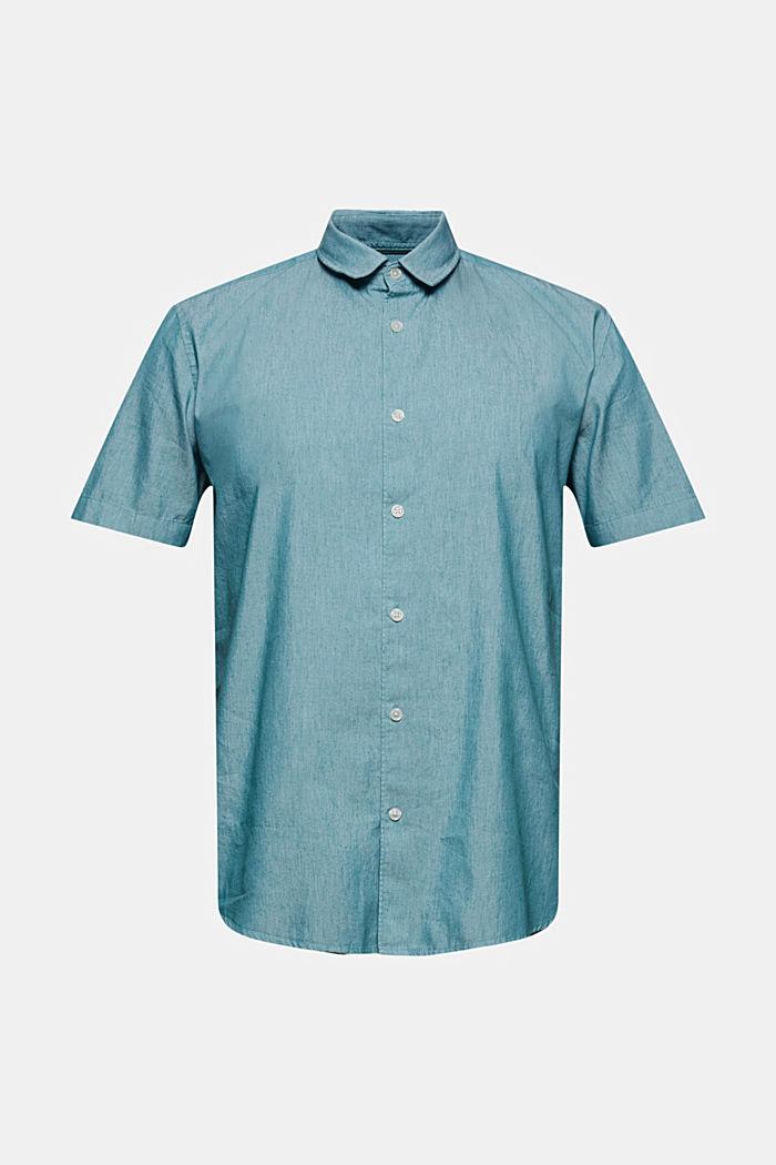 Med linne/COOLMAX®: Kortärmad skjorta