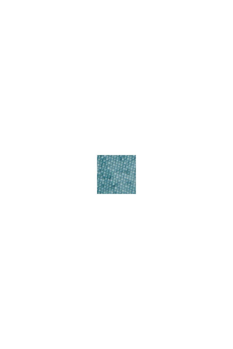 Met linnen/COOLMAX®: overhemd met korte mouwen, PETROL BLUE, swatch