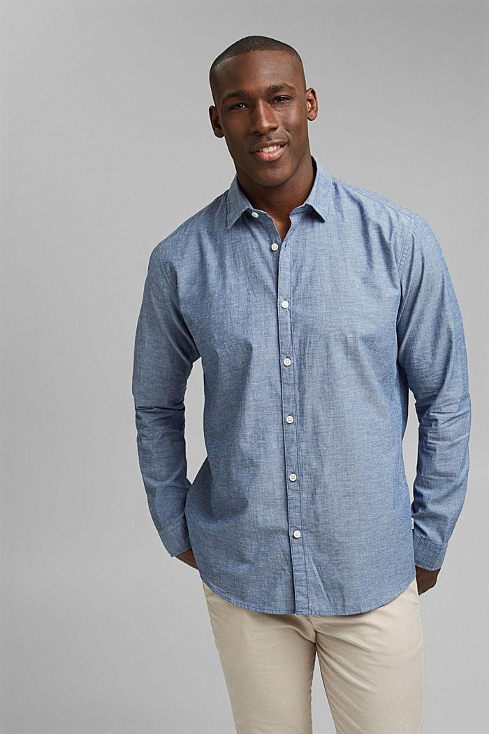 Camiseta jaspeada en 100% algodón ecológico, NAVY, detail image number 0