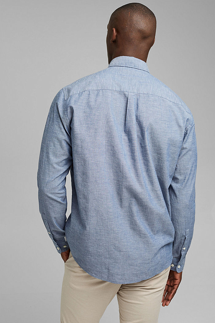 Camiseta jaspeada en 100% algodón ecológico, NAVY, detail image number 3