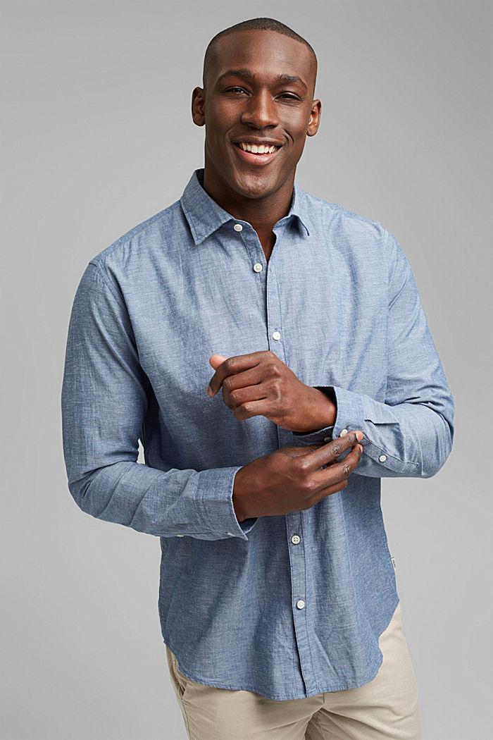 Camiseta jaspeada en 100% algodón ecológico, NAVY, detail image number 5