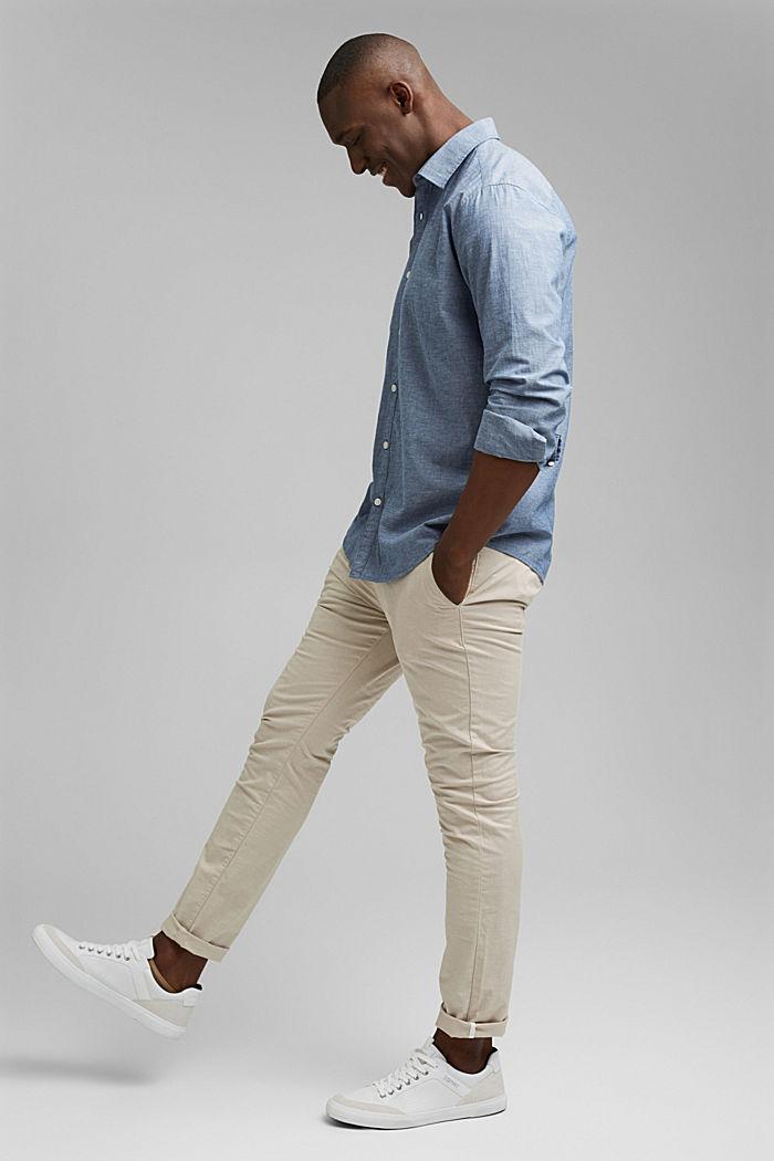 Camiseta jaspeada en 100% algodón ecológico, NAVY, detail image number 1