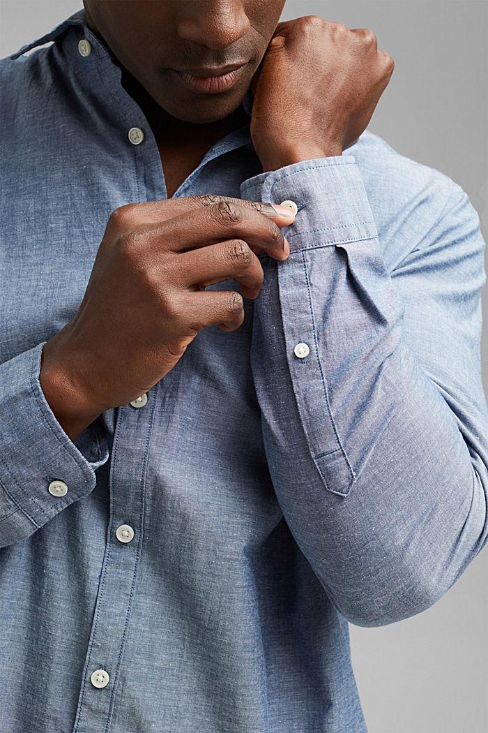 Camicia melangiata in 100% cotone biologico