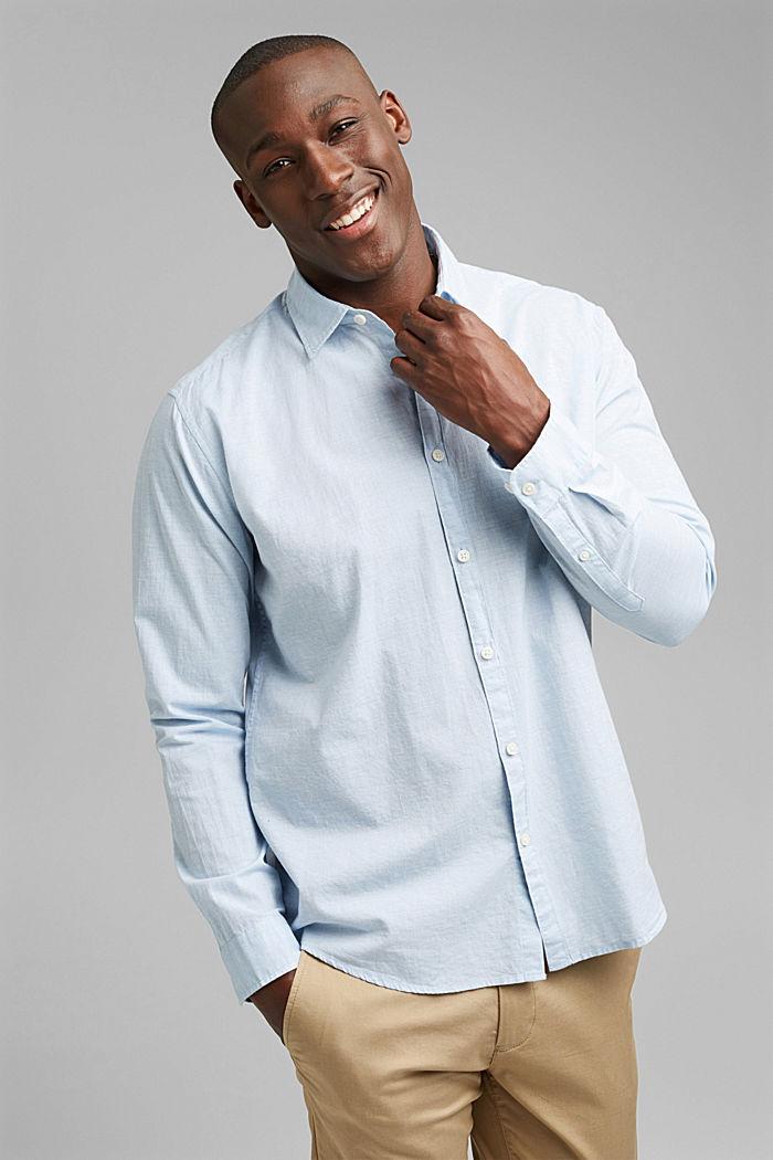 Camiseta jaspeada en 100% algodón ecológico, LIGHT BLUE, detail image number 0