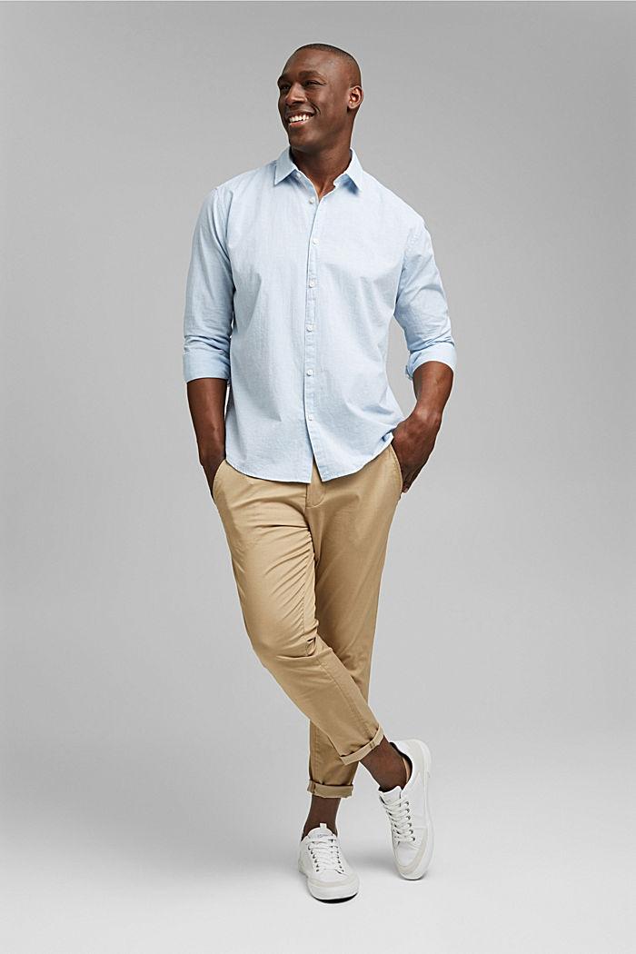 Camiseta jaspeada en 100% algodón ecológico, LIGHT BLUE, detail image number 1