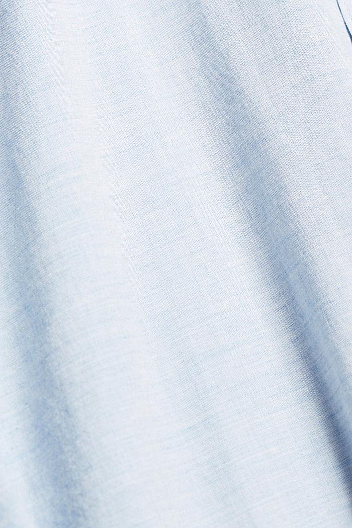 Camiseta jaspeada en 100% algodón ecológico, LIGHT BLUE, detail image number 4