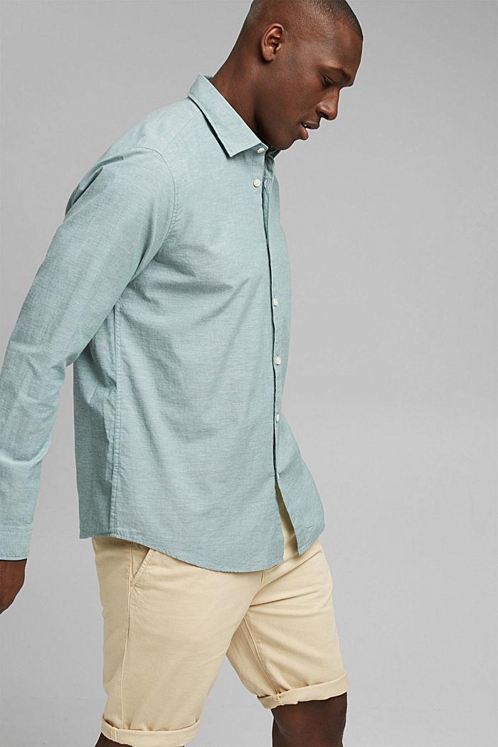 Gemêleerd overhemd van 100% biologisch katoen