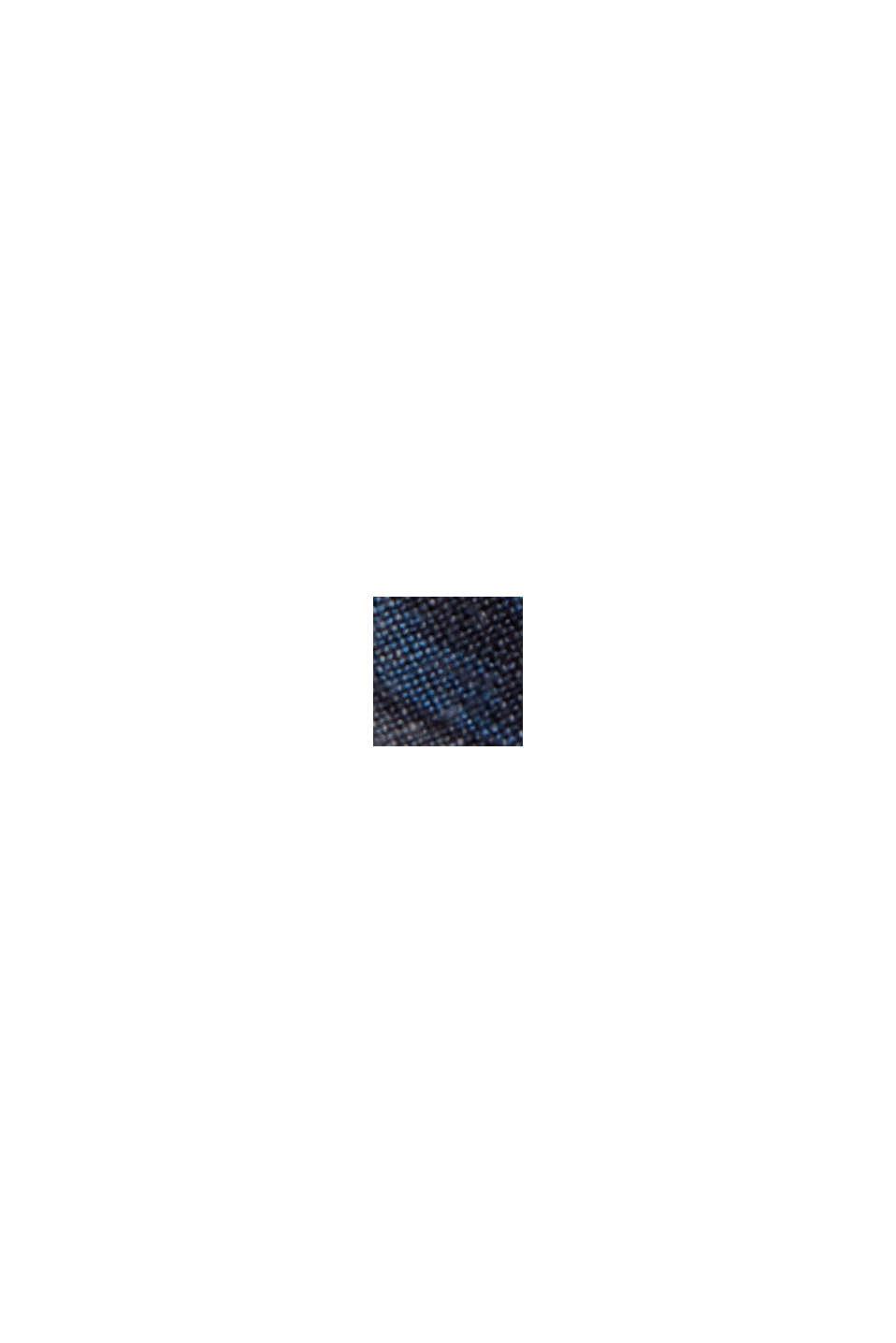 Linnenmix: overhemd met korte mouwen en print, NAVY, swatch
