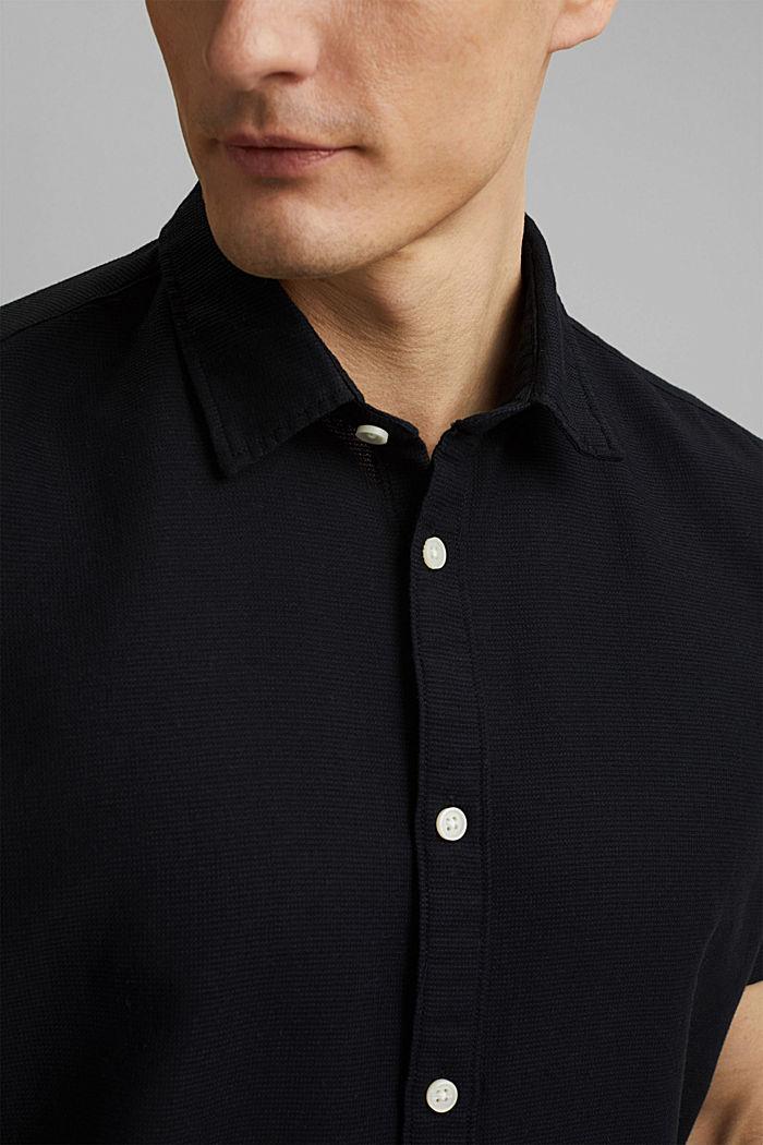 Kurzarm-Hemd aus 100% Organic Cotton, BLACK, detail image number 2