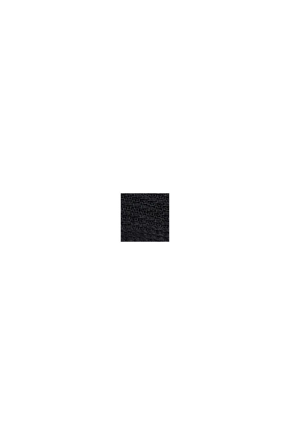 Overhemd met korte mouwen van 100% biologisch katoen, BLACK, swatch