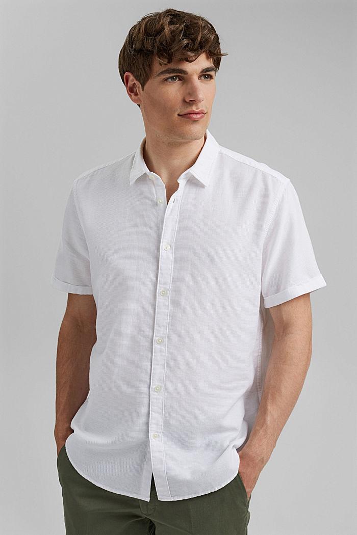 Kurzarm-Hemd aus 100% Organic Cotton, WHITE, detail image number 0