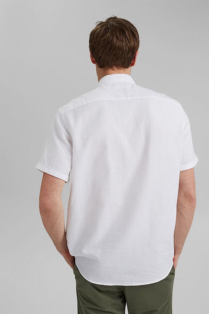 Kurzarm-Hemd aus 100% Organic Cotton, WHITE, detail image number 3