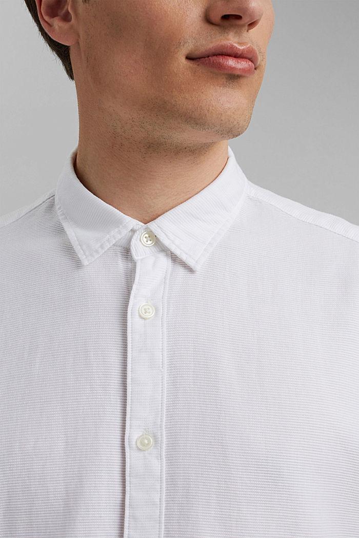 Kurzarm-Hemd aus 100% Organic Cotton, WHITE, detail image number 2
