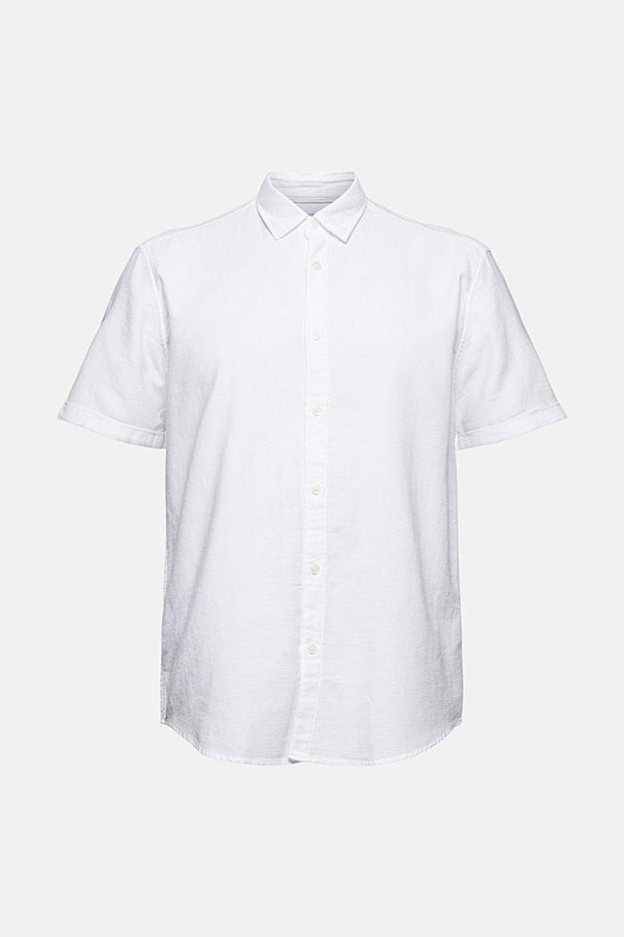 Kurzarm-Hemd aus 100% Organic Cotton, WHITE, detail image number 7