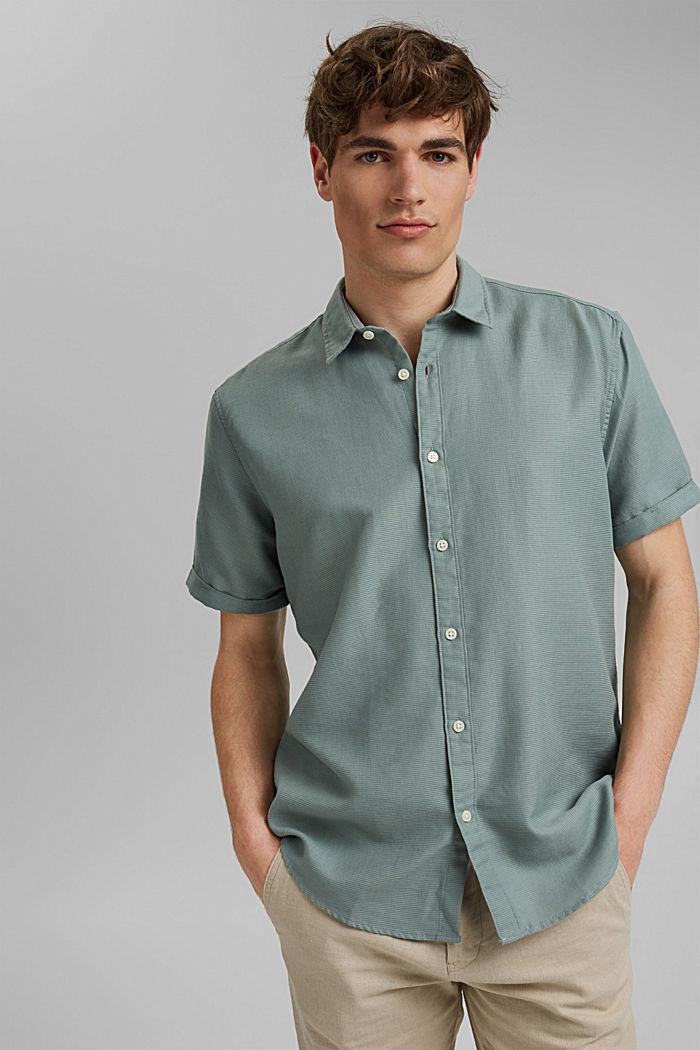 Overhemd met korte mouwen van 100% biologisch katoen, PASTEL GREEN, detail image number 0