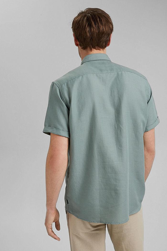 Overhemd met korte mouwen van 100% biologisch katoen, PASTEL GREEN, detail image number 3