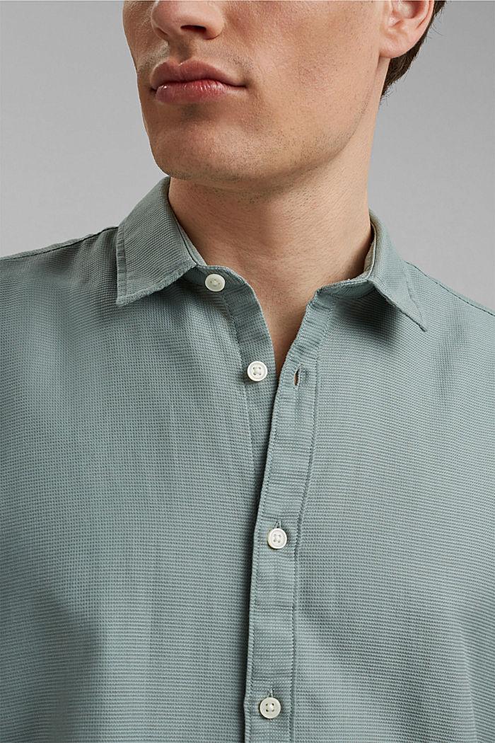 Overhemd met korte mouwen van 100% biologisch katoen, PASTEL GREEN, detail image number 2