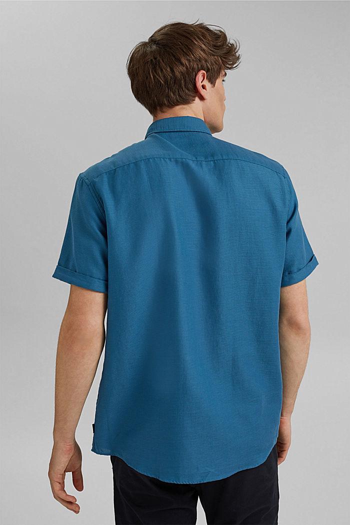 Camisa de manga corta confeccionada en 100 % algodón ecológico, PETROL BLUE, detail image number 3