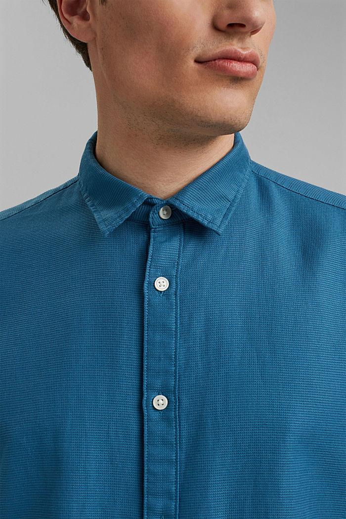 Camisa de manga corta confeccionada en 100 % algodón ecológico, PETROL BLUE, detail image number 2
