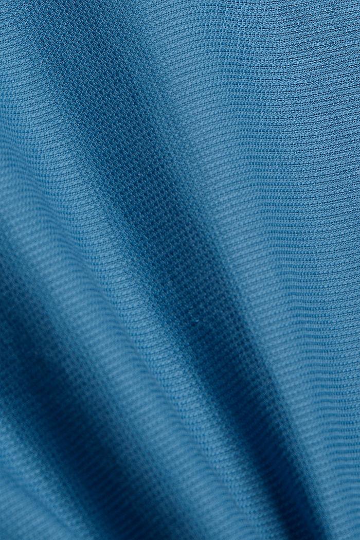 Camisa de manga corta confeccionada en 100 % algodón ecológico, PETROL BLUE, detail image number 4