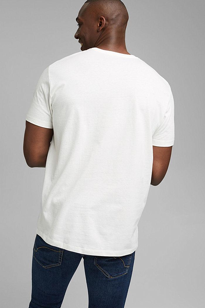 Jersey-T-Shirt aus Bio-Baumwolle/Leinen, OFF WHITE, detail image number 3