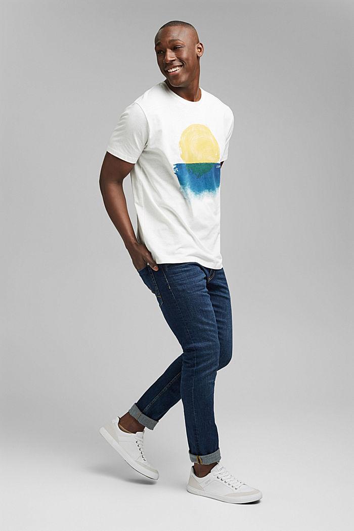 Jersey-T-Shirt aus Bio-Baumwolle/Leinen, OFF WHITE, detail image number 2