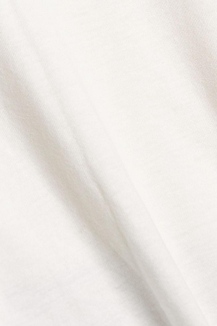 Jersey-T-Shirt aus Bio-Baumwolle/Leinen, OFF WHITE, detail image number 5