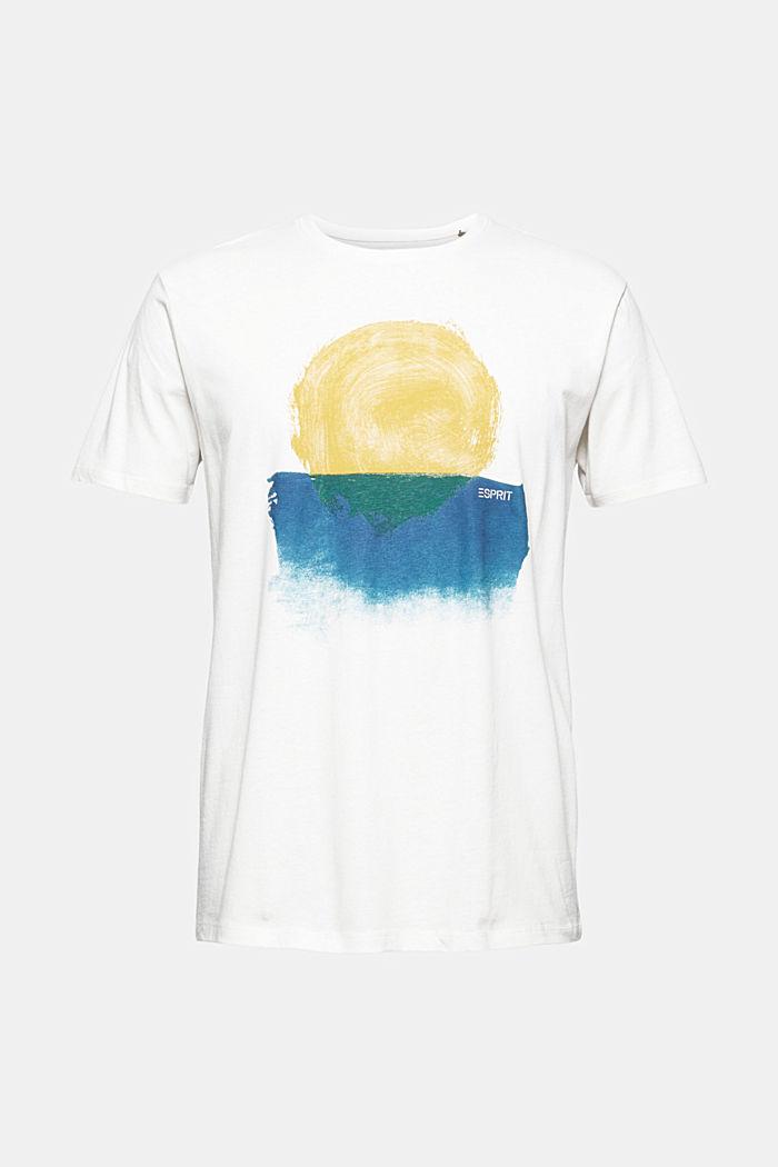 Jersey T-shirt van biologisch katoen/linnen