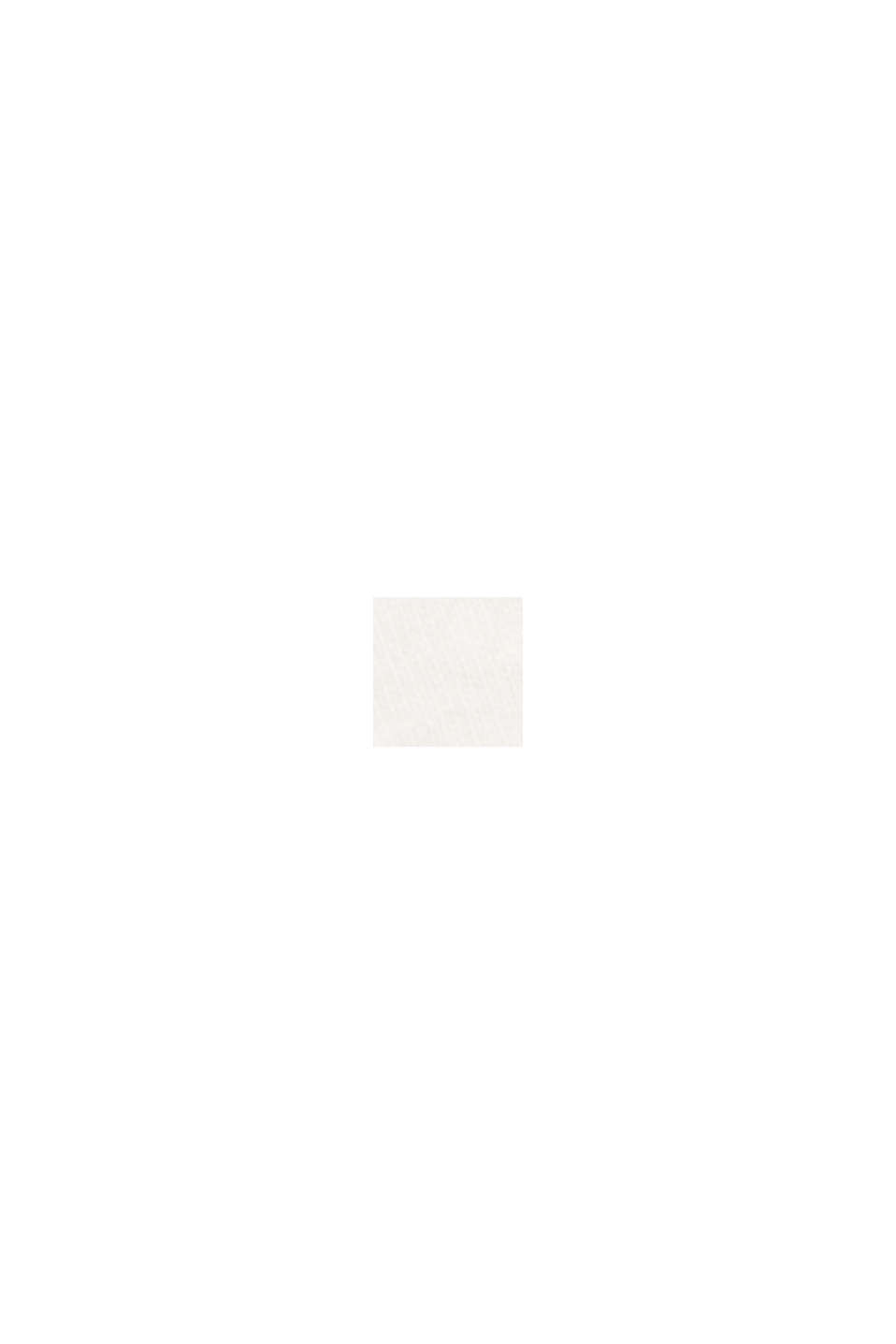 Jersey T-shirt van biologisch katoen/linnen, OFF WHITE, swatch