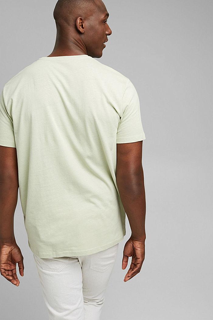 Jersey T-shirt made of organic cotton/linen, PASTEL GREEN, detail image number 3