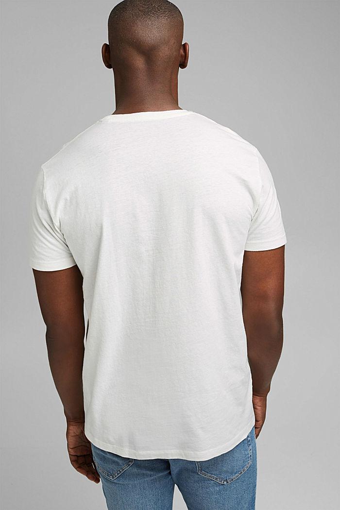 Jersey T-shirt met print, 100% biologisch katoen, OFF WHITE, detail image number 3