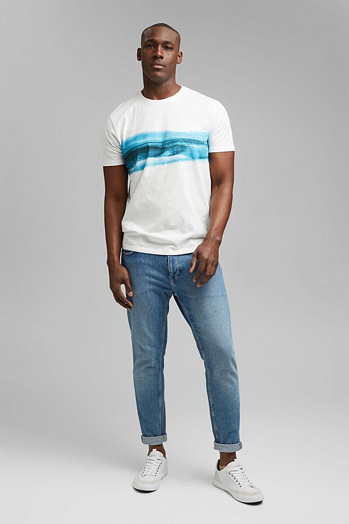 Jersey T-shirt met print, 100% biologisch katoen, OFF WHITE, detail image number 2