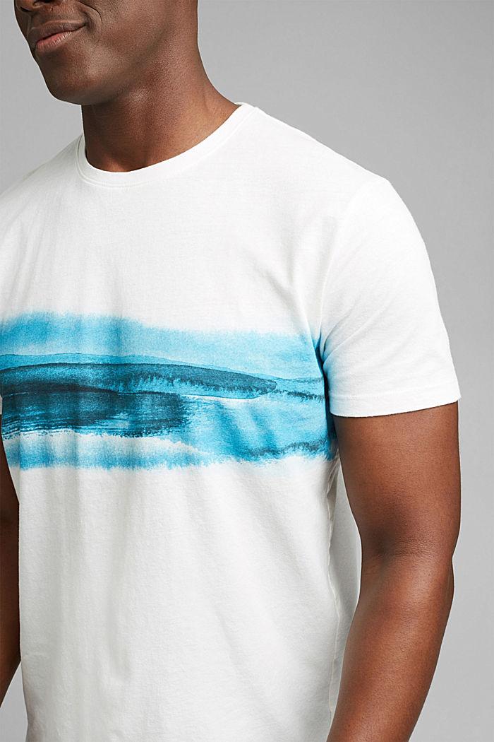 Jersey T-shirt met print, 100% biologisch katoen, OFF WHITE, detail image number 1