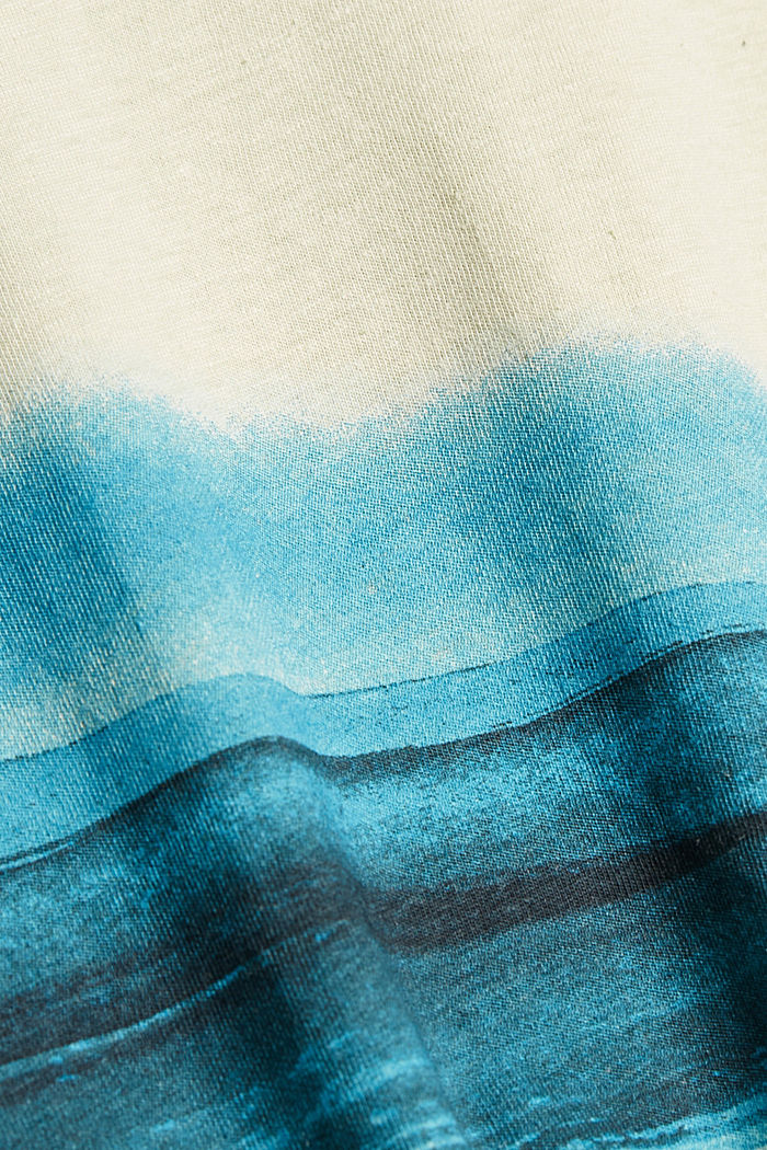Jersey T-shirt met print, 100% biologisch katoen, PASTEL GREEN, detail image number 4