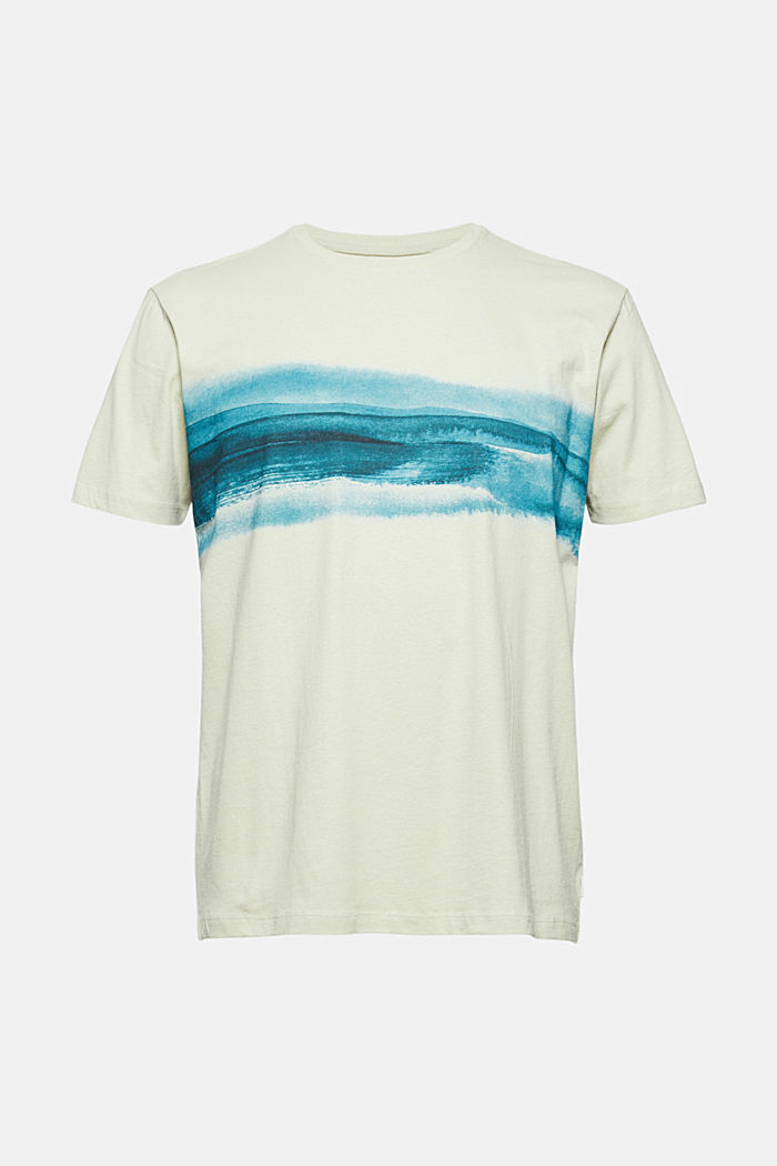 Jersey T-shirt met print, 100% biologisch katoen, PASTEL GREEN, detail image number 5